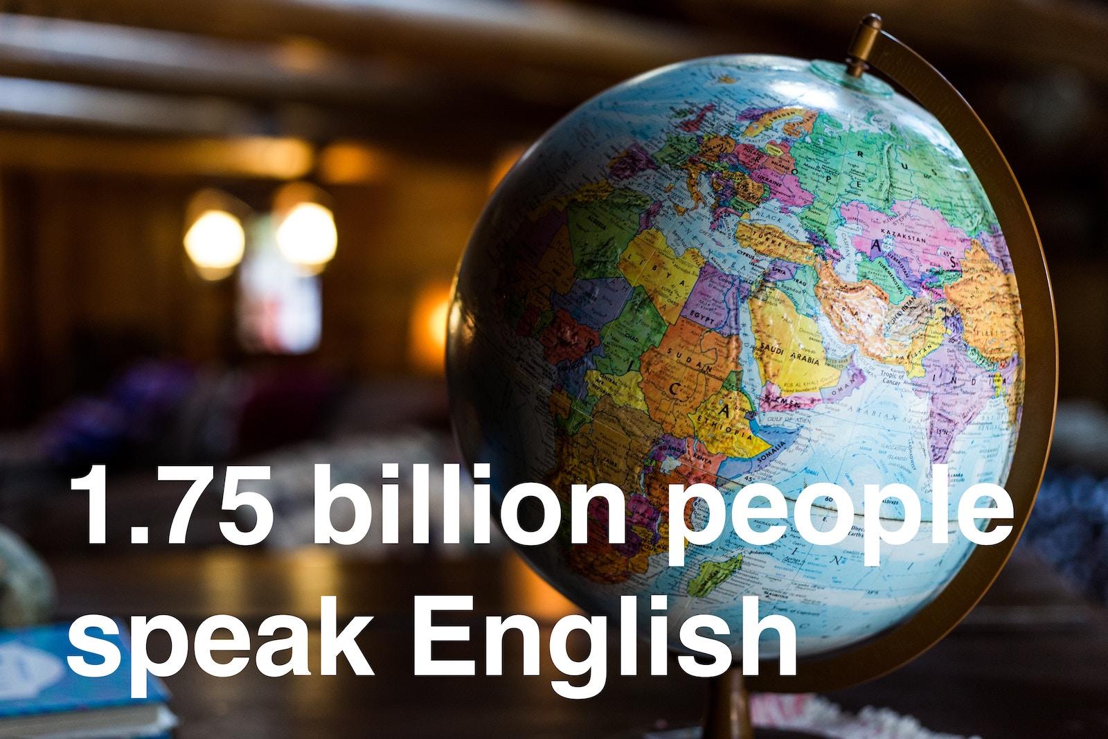 1,75 миллиарда людей говорят на английском