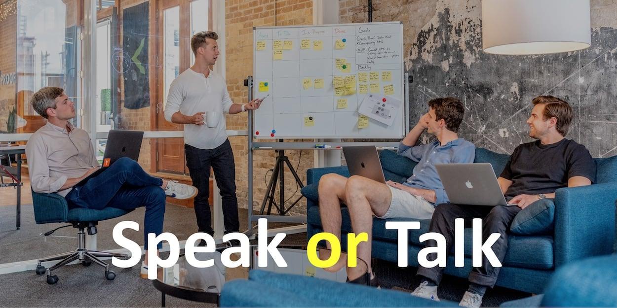 В чем разница между To speak и To talk?
